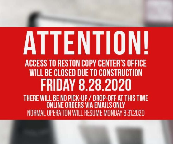 reston copy center closed friday 8 28