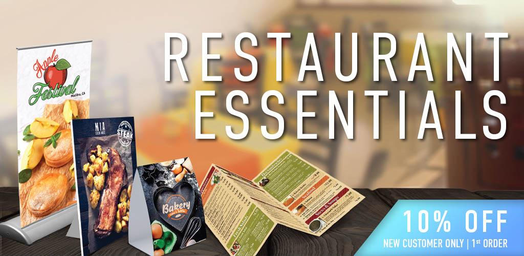 restaurant essentials printing