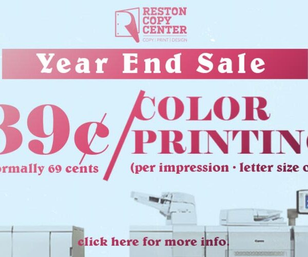 39 cents color printing reston herndon va
