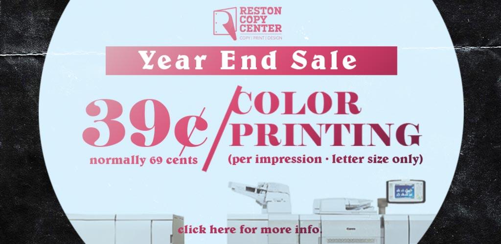 39 cents color printing reston herndon va