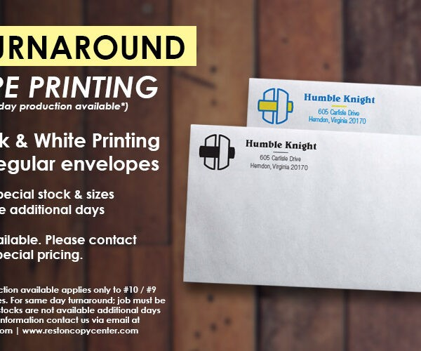 reston envelope printing